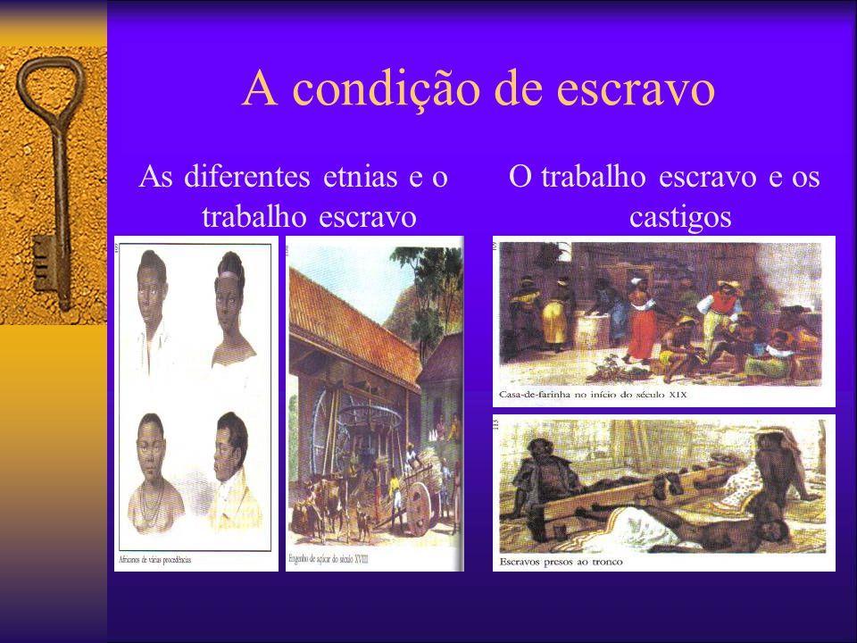 A condição de escravo As diferentes etnias e o trabalho escravo