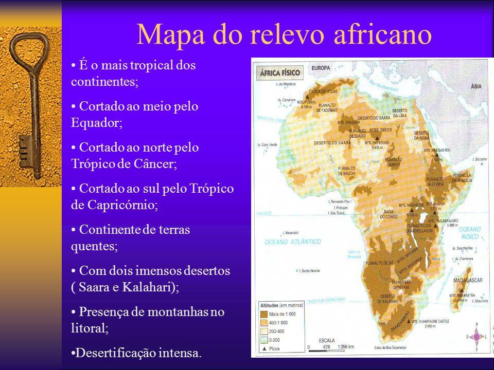 Mapa do relevo africano