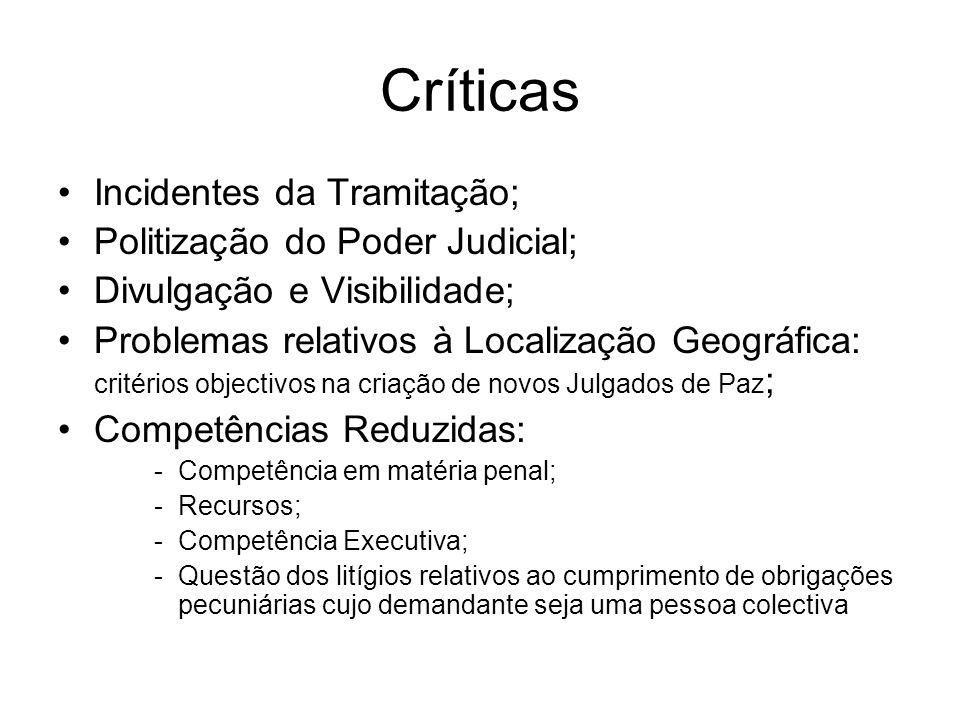 Críticas Incidentes da Tramitação; Politização do Poder Judicial;