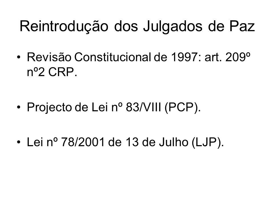 Reintrodução dos Julgados de Paz