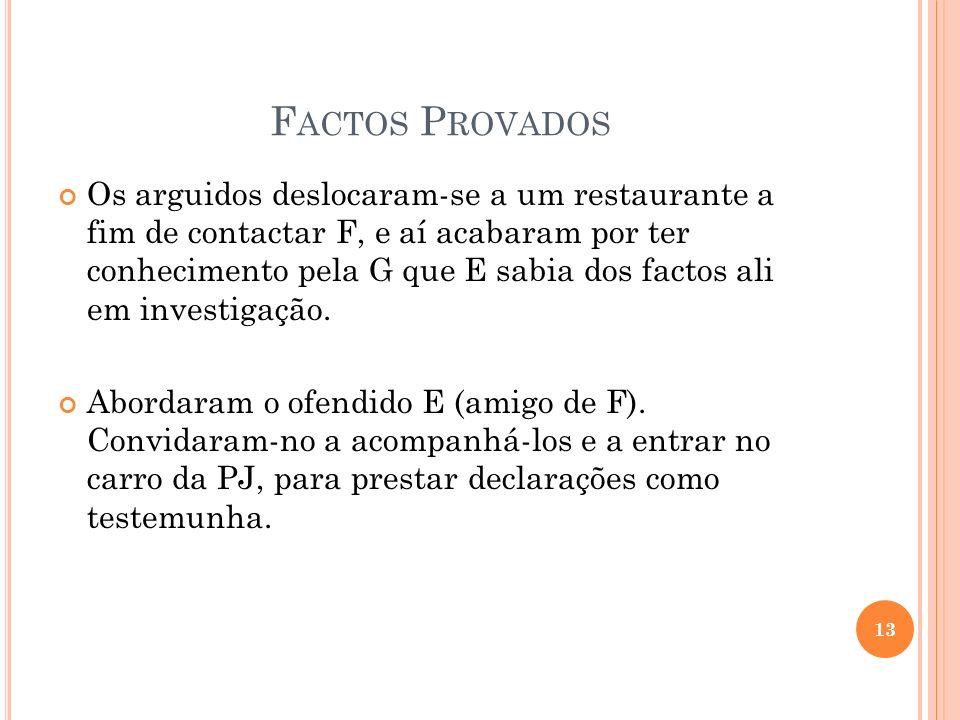 Factos Provados
