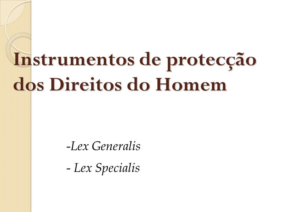 Instrumentos de protecção dos Direitos do Homem