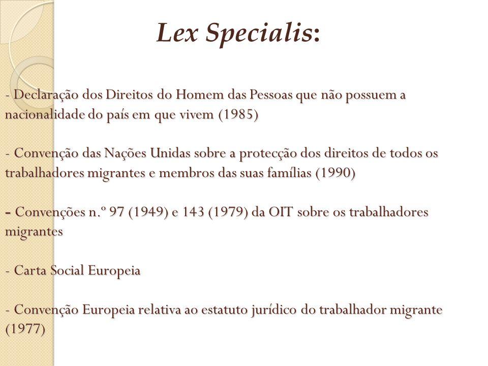 Lex Specialis: