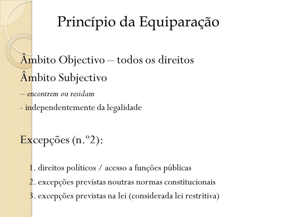 Princípio da Equiparação