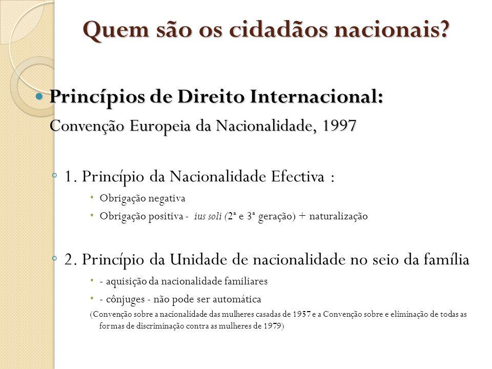 Quem são os cidadãos nacionais