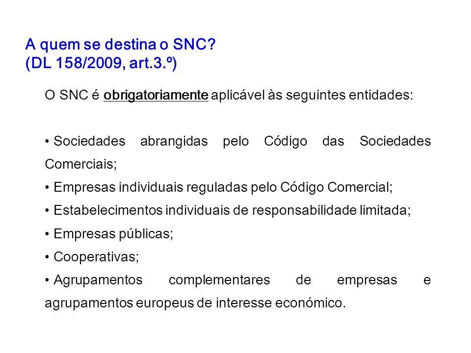 A quem se destina o SNC (DL 158/2009, art.3.º)