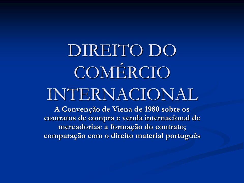 DIREITO DO COMÉRCIO INTERNACIONAL