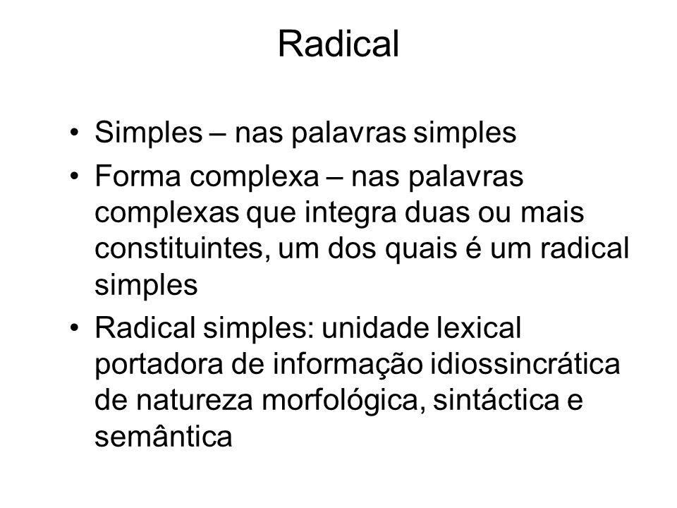Radical Simples – nas palavras simples