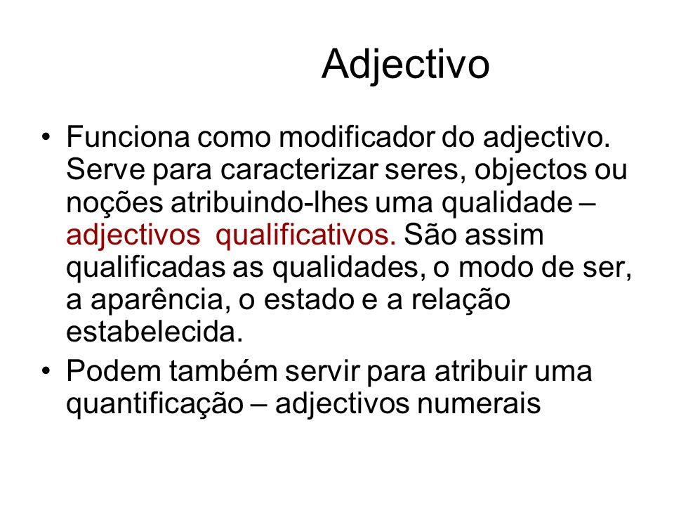 Adjectivo