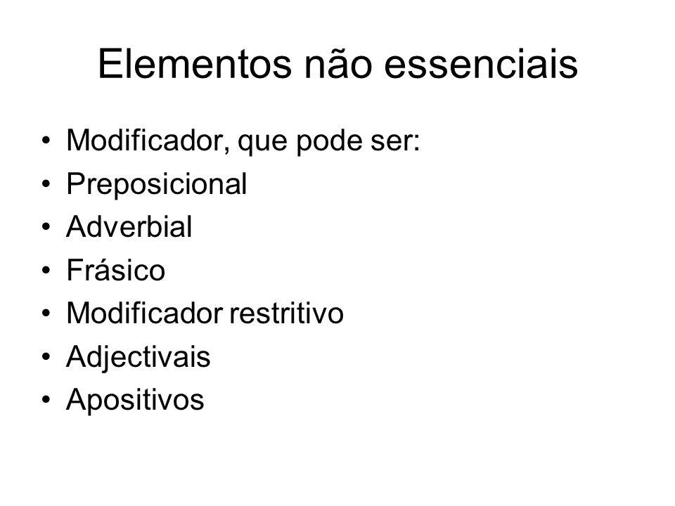 Elementos não essenciais