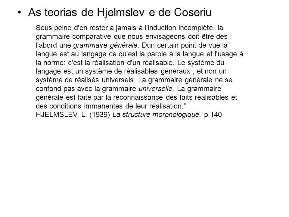 As teorias de Hjelmslev e de Coseriu