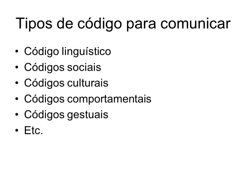 Tipos de código para comunicar