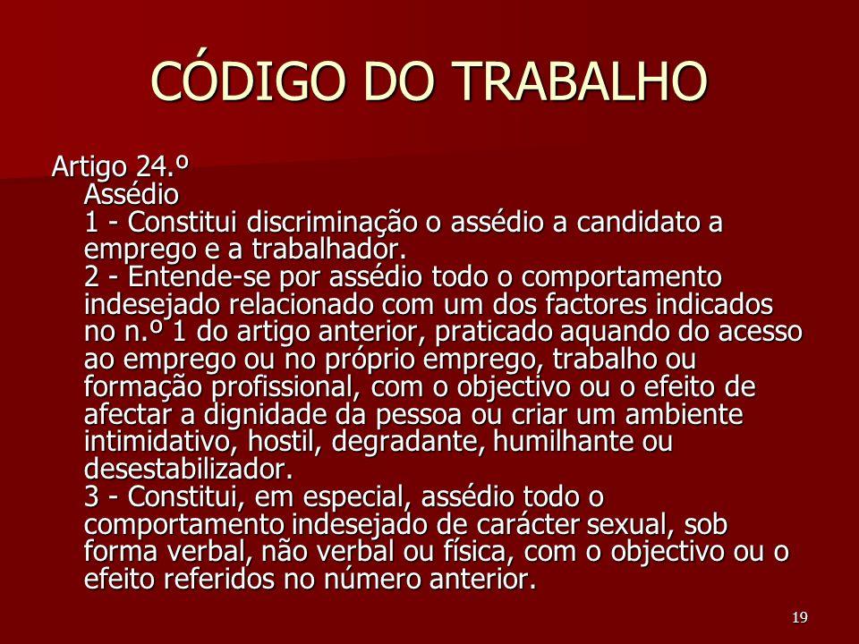 CÓDIGO DO TRABALHO