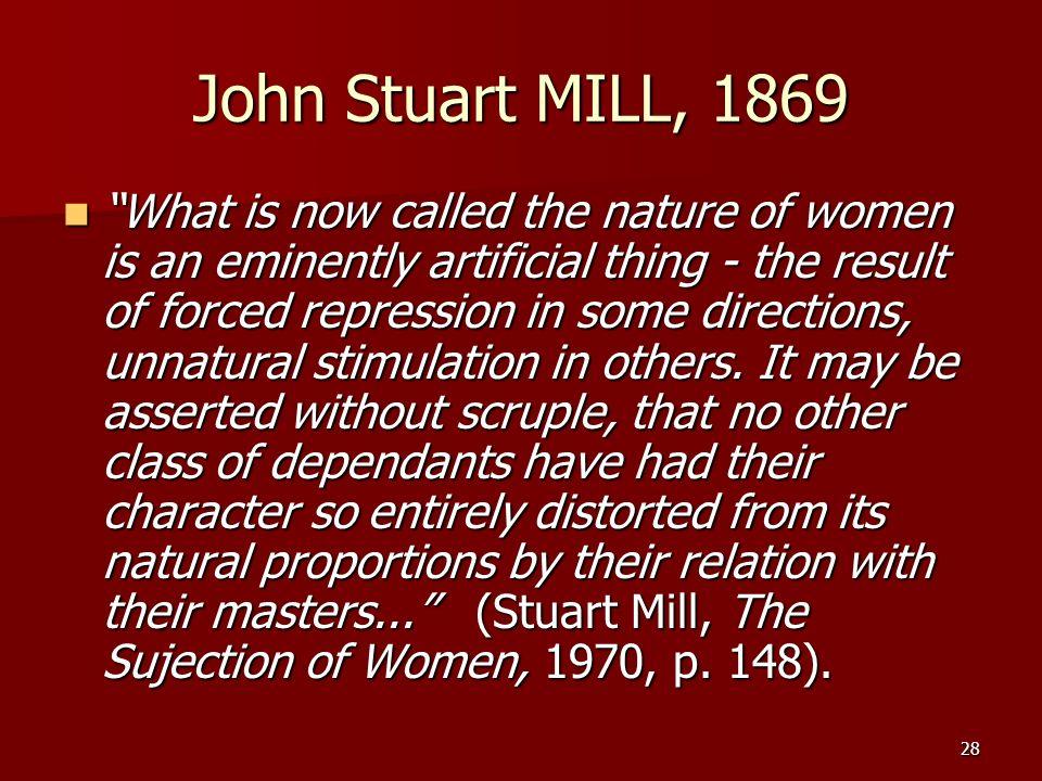 John Stuart MILL, 1869