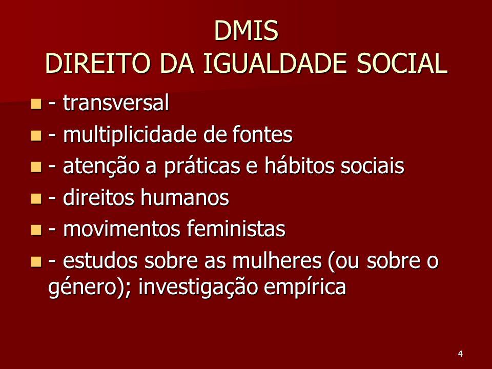 DMIS DIREITO DA IGUALDADE SOCIAL
