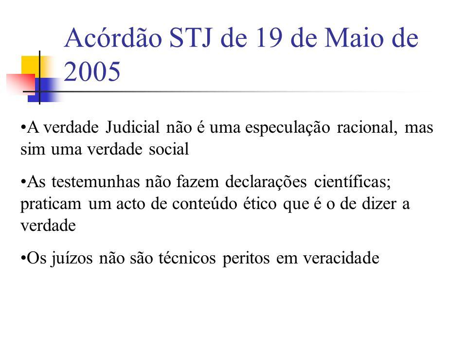 Acórdão STJ de 19 de Maio de 2005