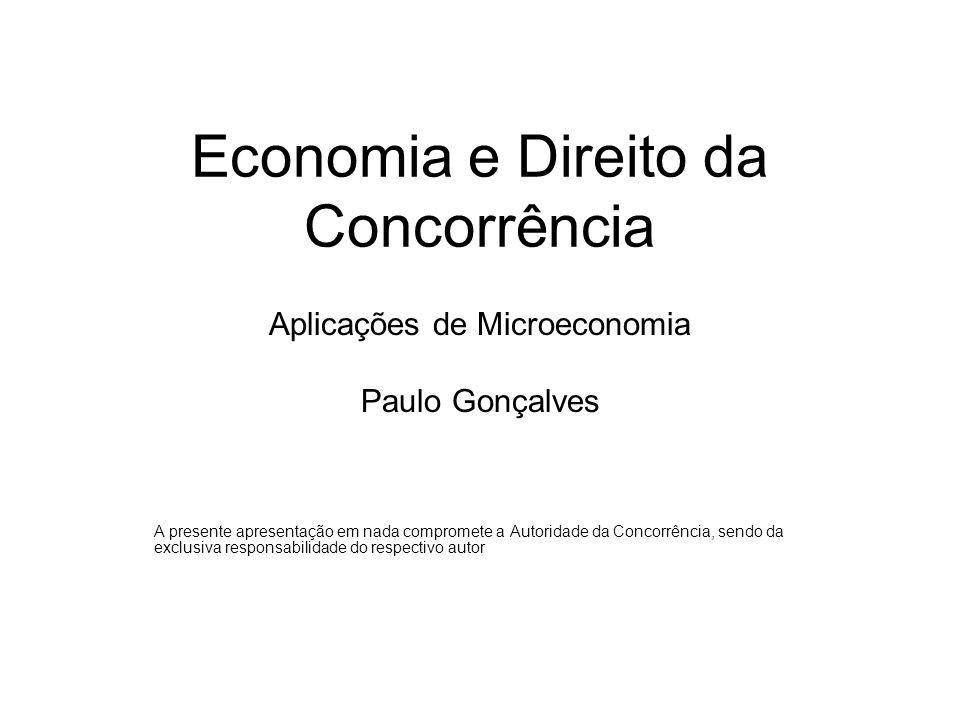 Economia e Direito da Concorrência