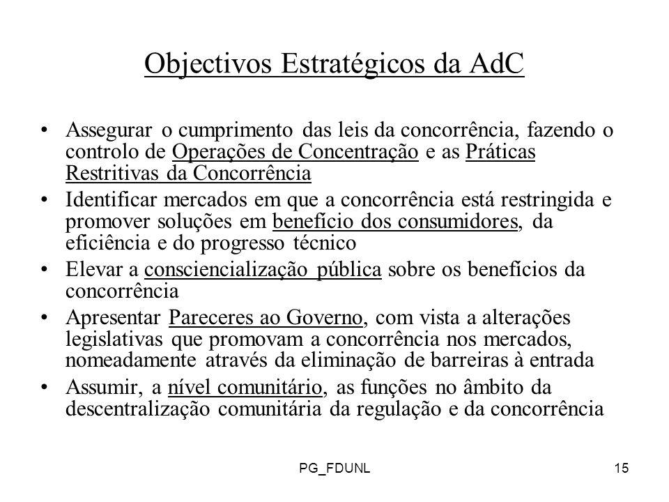 Objectivos Estratégicos da AdC