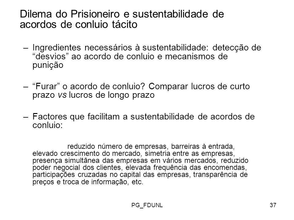Dilema do Prisioneiro e sustentabilidade de acordos de conluio tácito