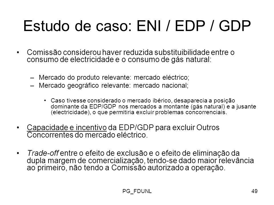 Estudo de caso: ENI / EDP / GDP