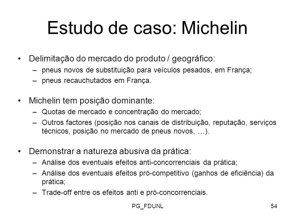Estudo de caso: Michelin