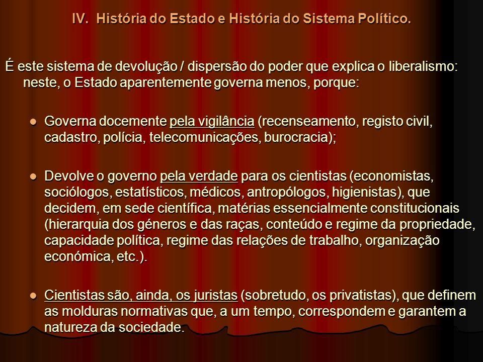 IV. História do Estado e História do Sistema Político.