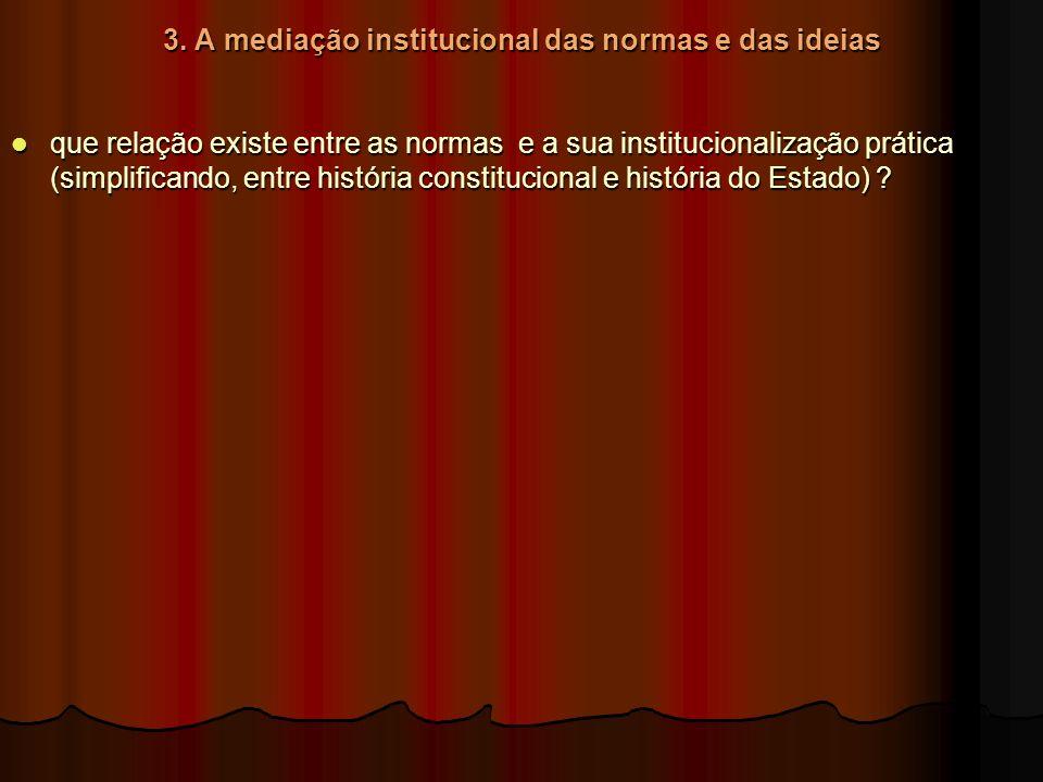 3. A mediação institucional das normas e das ideias