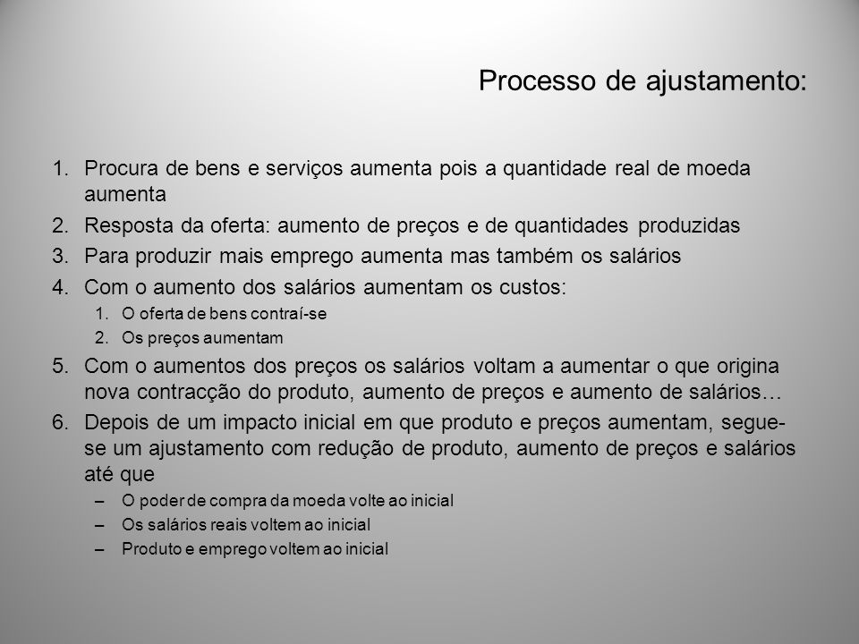 Processo de ajustamento: