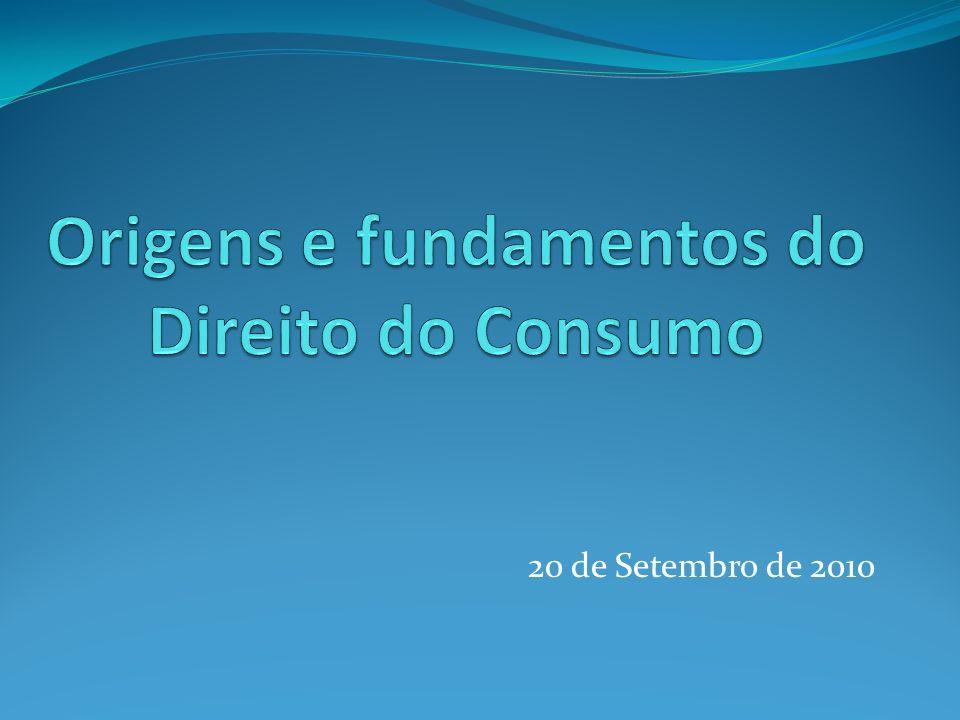Origens e fundamentos do Direito do Consumo