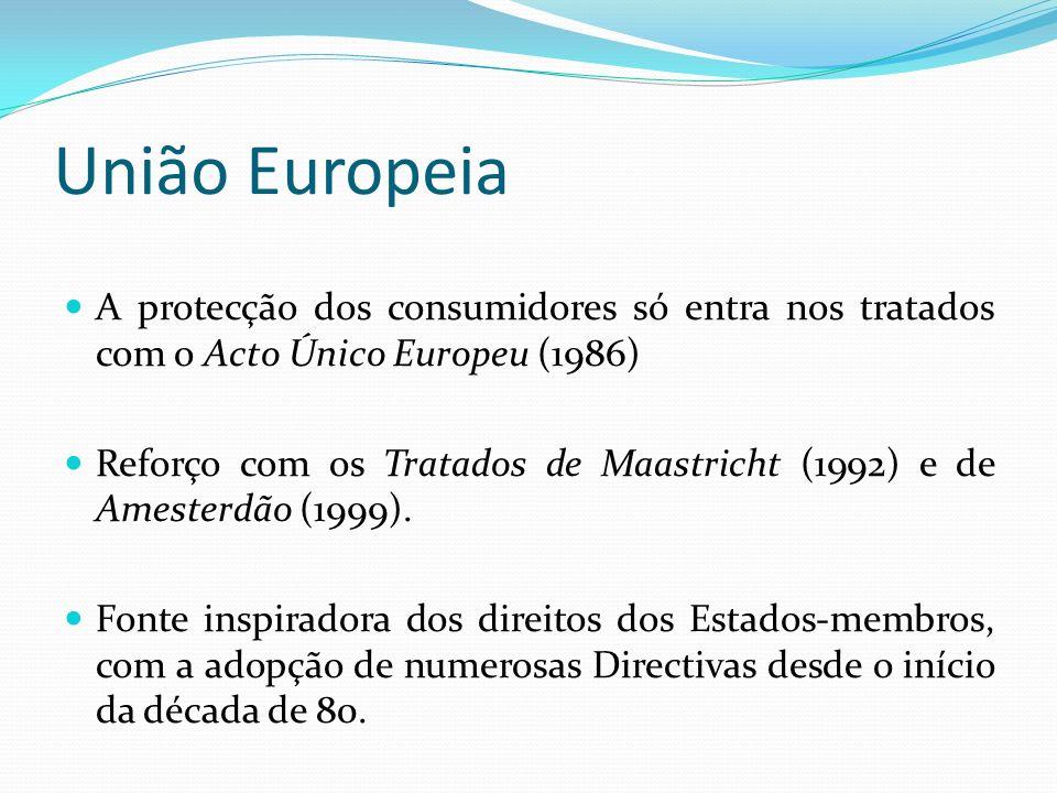 União Europeia A protecção dos consumidores só entra nos tratados com o Acto Único Europeu (1986)