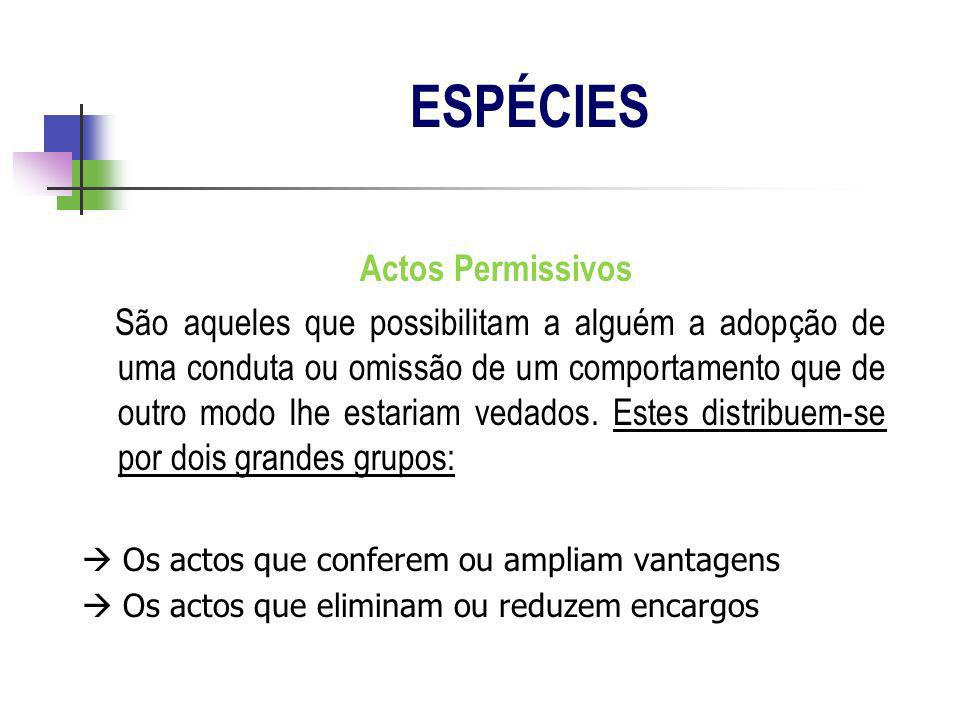 ESPÉCIES Actos Permissivos
