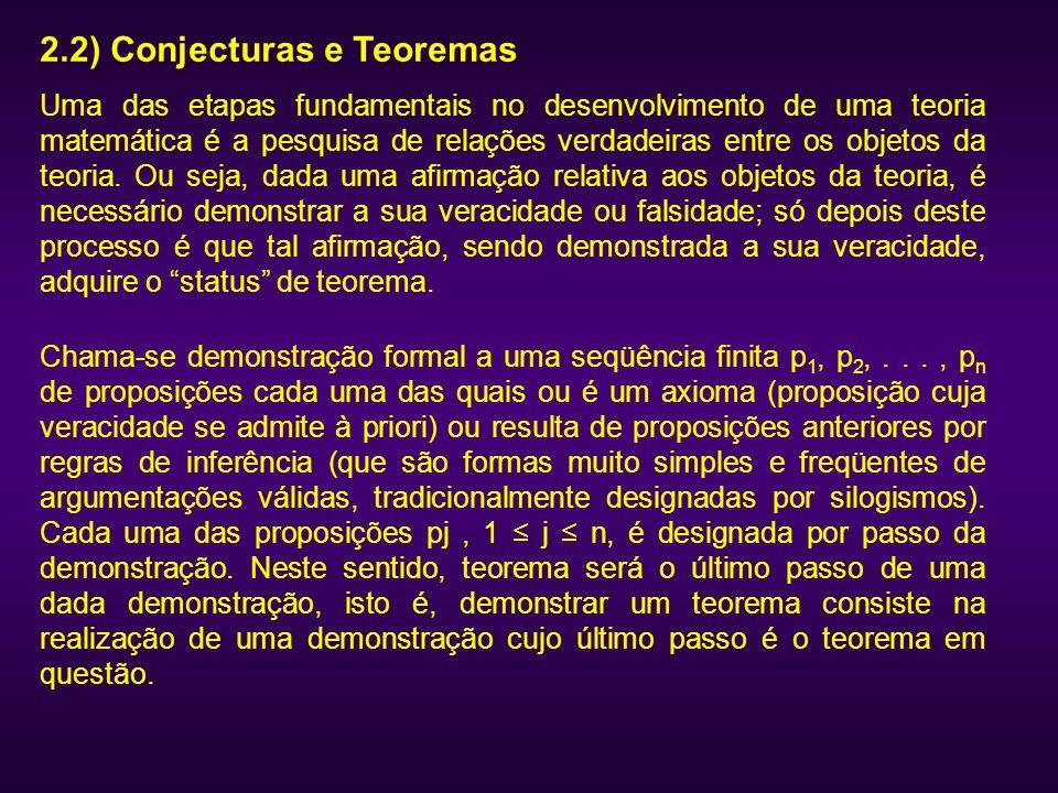 2.2) Conjecturas e Teoremas