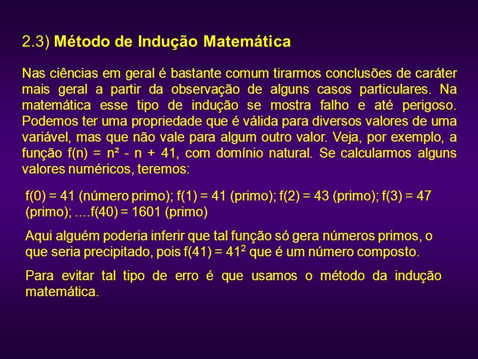 2.3) Método de Indução Matemática
