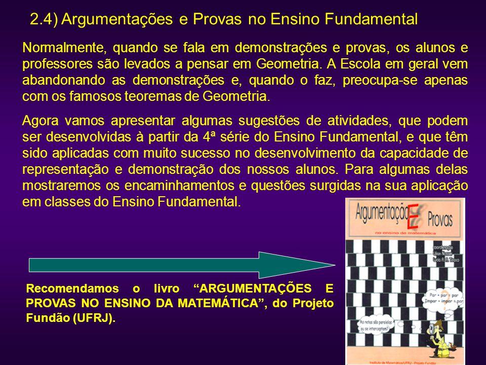 2.4) Argumentações e Provas no Ensino Fundamental