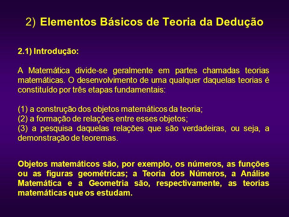 2) Elementos Básicos de Teoria da Dedução