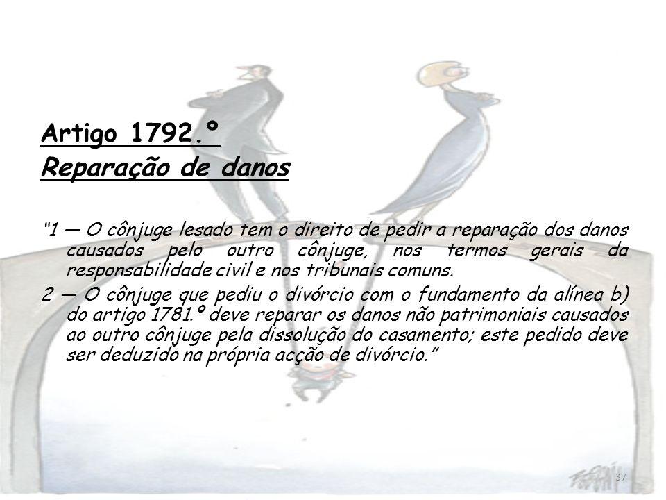 Artigo 1792.º Reparação de danos