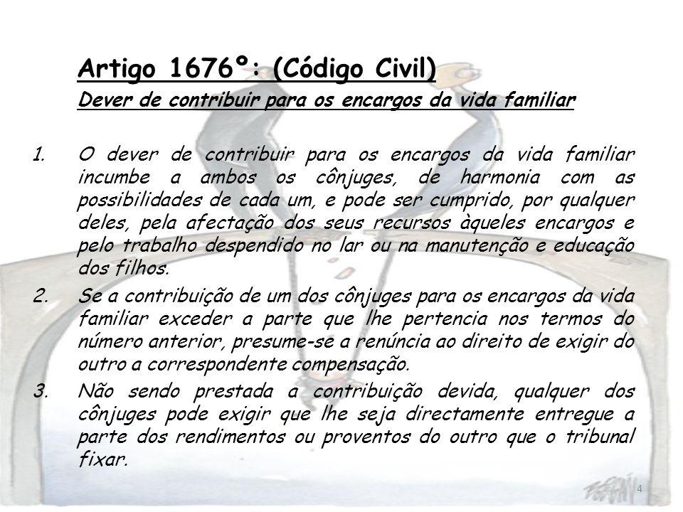 Artigo 1676º: (Código Civil)