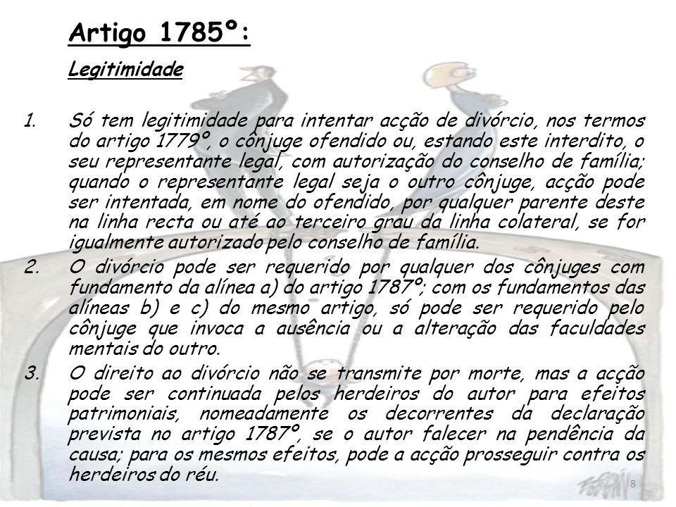 Artigo 1785º: Legitimidade
