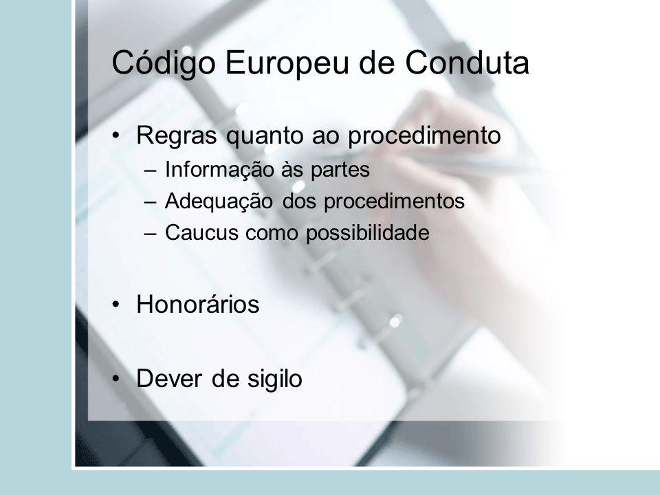 Código Europeu de Conduta