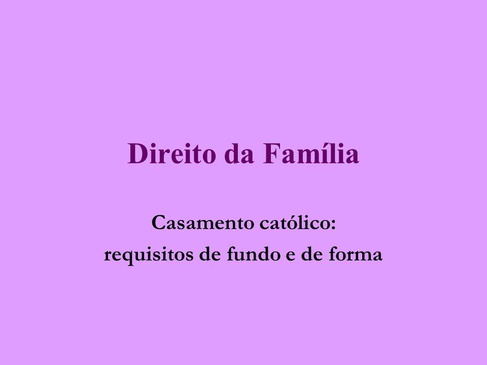 Casamento católico: requisitos de fundo e de forma