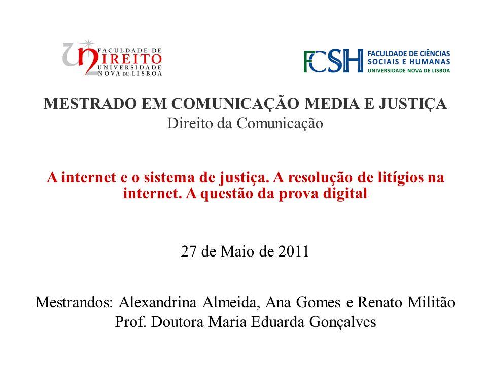 MESTRADO EM COMUNICAÇÃO MEDIA E JUSTIÇA