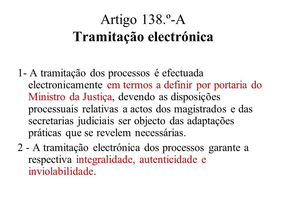 Artigo 138.º-A Tramitação electrónica