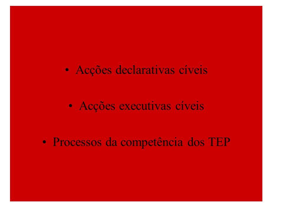 Acções declarativas cíveis Acções executivas cíveis