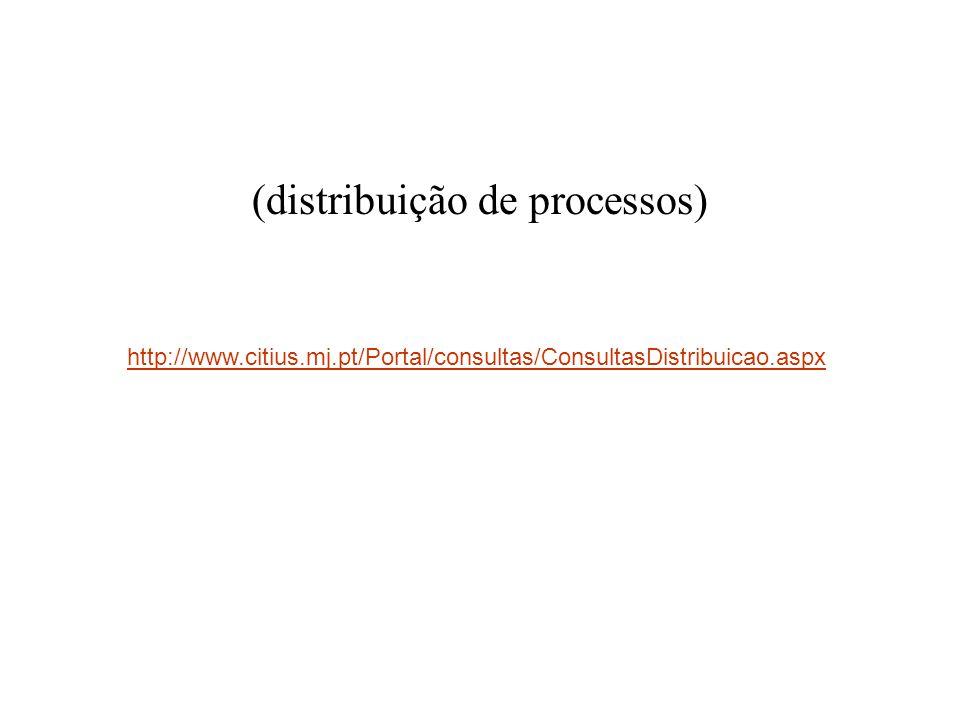 (distribuição de processos)