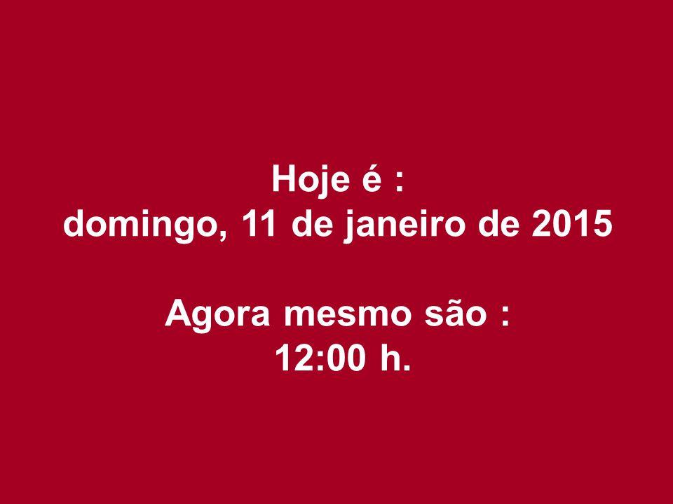 Hoje é : sábado, 8 de abril de 2017 Agora mesmo são : 08:11 h.