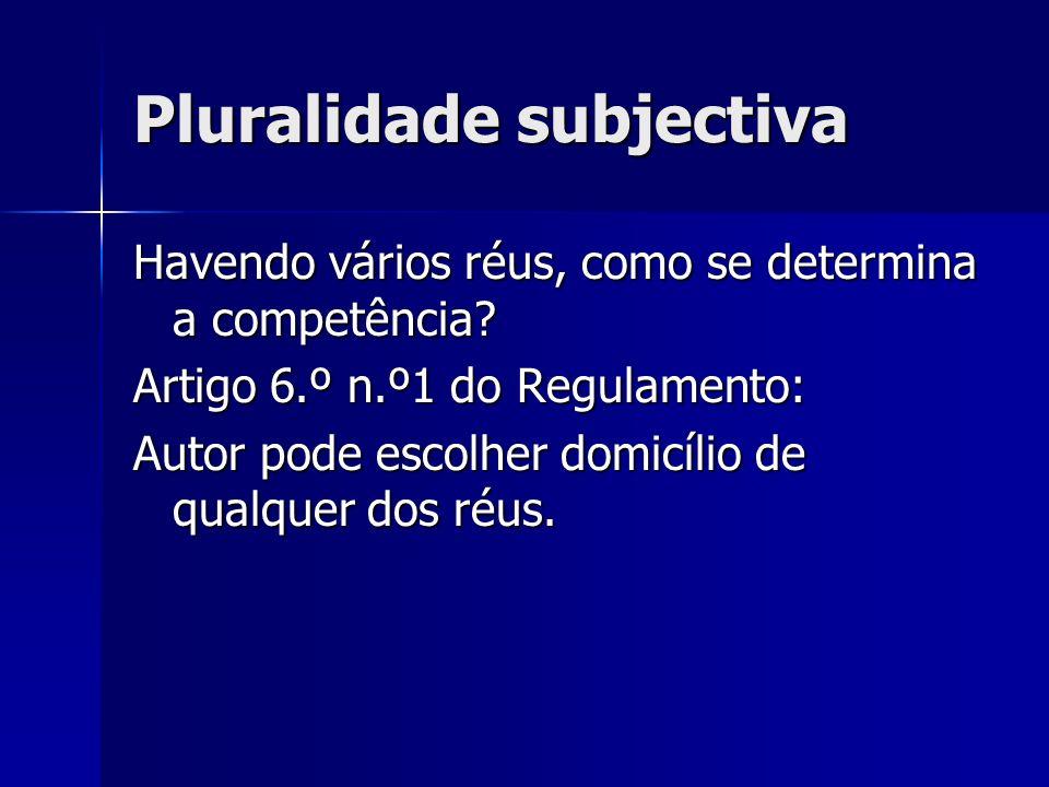 Pluralidade subjectiva