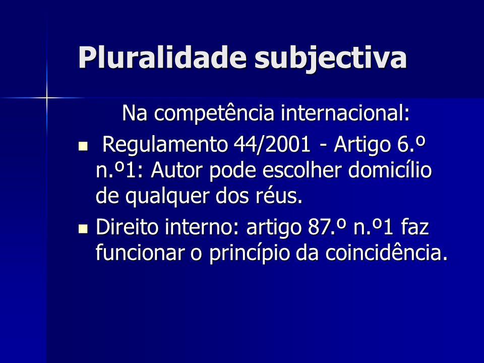Na competência internacional: