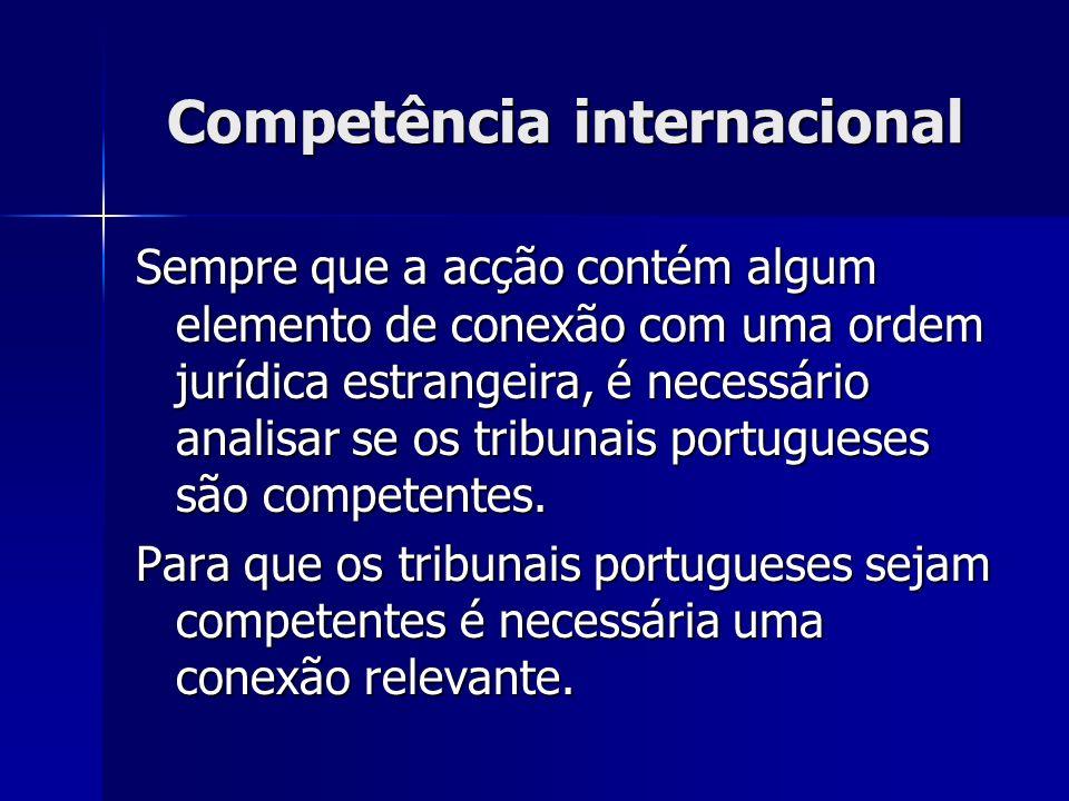 Competência internacional