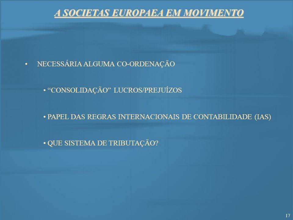 A SOCIETAS EUROPAEA EM MOVIMENTO