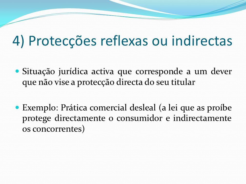4) Protecções reflexas ou indirectas